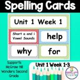 Wonders Unit 1 Weeks 1-5 Spelling Words Second Grade