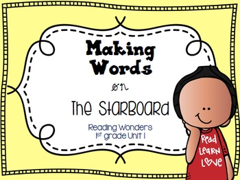 Making Words on the StarBoard 1st grade {Unit 1}