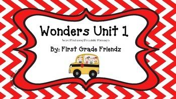 Wonders Unit 1 Word Find Using Decodable Passages