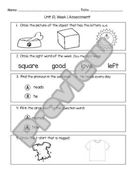 Wonders Unit 10 Assessment Bundle