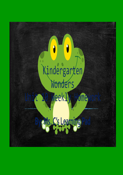 Wonders Unit 10 Reading/Math Homework Bundle