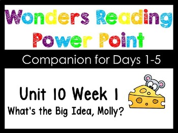 Wonders Unit 10 Week 1 Power Point What's The Big Idea Mol