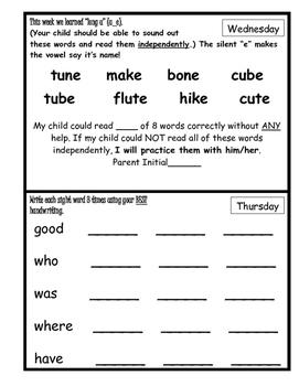Wonders Unit 10 Week 1 Reading/Math Homework (What's the Big Idea, Molly)