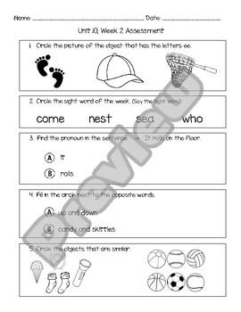 Wonders Unit 10, Week 2 Assessment