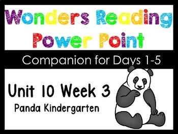 Wonders Unit 10 Week 3 Power Point Kindergarten Panda Kind