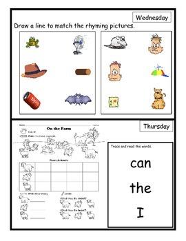 Wonders Unit 1.1 Homework (What About Bear?)