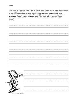 Wonders Unit 2 Assessment Writing Questions