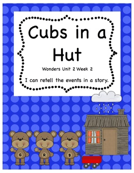 Wonders Unit 2 Cubs in a Hut Story Retell