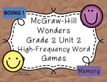FREE Wonders Unit 2 High-Frequency Words BOING !