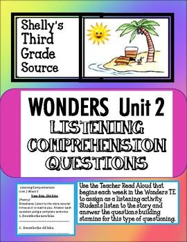 Wonders- Unit 2 Listening Comprehension