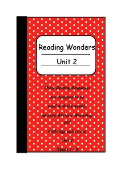 Wonders ~ Unit 2 Reading Responses