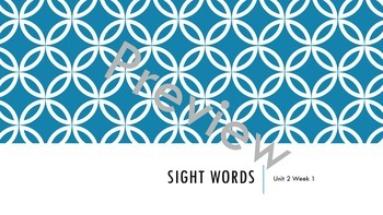Wonders Unit 2 Sight Words Bundle
