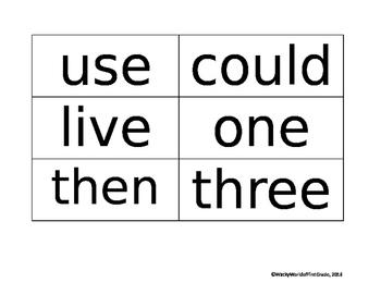 Wonders Unit 2 Sight Words (First Grade)
