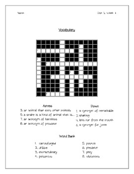 Wonders Unit 2 Spelling and Vocabulary Study Packet