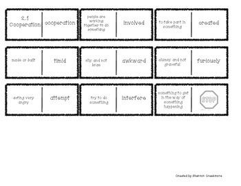 Wonders Unit 2 Vocabulary Dominoes (McGraw-Hill)