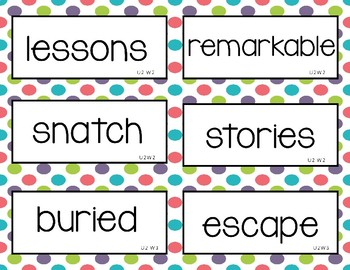 Wonders Unit 2 Vocabulary Word Cards (2nd grade)