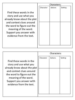 Wonders Unit 2 Week 1 Fox and the Cat Skill Booklet