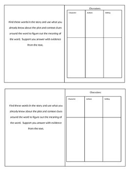 Wonders Unit 2 Week 1 Fox and the Crane Skill Booklet