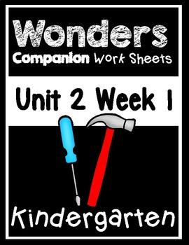 Wonders Unit 2 Week 1 The Handiest Things Centers/Worksheets Kindergarten