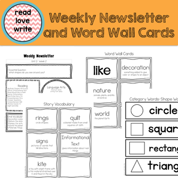 Wonders Unit 2 Week 2, Kinder, Morning Work, Tests, Common Core, Writing