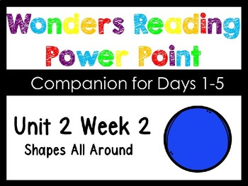 Wonders Unit 2 Week 2 Shapes All Around Power Point Interactive Kindergarten
