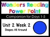 Wonders Unit 2 Week 2 Shapes All Around Power Point Interactive Kindergarten