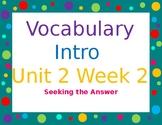 Wonders Unit 2 Week 2 Vocabulary Powerpoint 5th grade