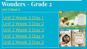 Wonders Unit 2 Week 3, Grade 2