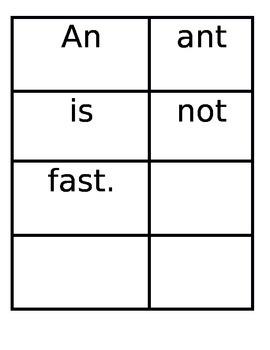 Wonders Unit 2 Week 3 High Frequency Words Sentence Sort