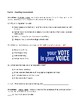Wonders Reading and Vocabulary Assessment Unit 2 Week 3: Vote!