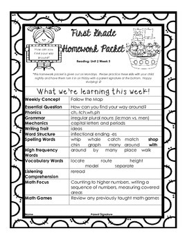Wonders Unit 2 Week 5 Homework Packet