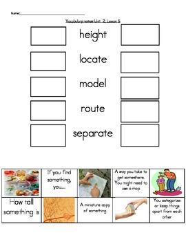 Wonders Unit 2, Week 5  Vocabulary Set