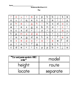 Wonders Unit 2, Week 5 Vocabulary Word Search