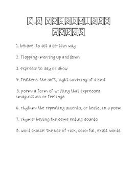 Wonders Unit 2 Week 5 Weekly Vocabulary Page