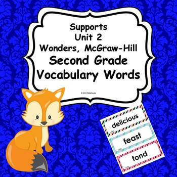 Wonders Unit 2 Weeks 1-5  Second Grade  Vocabulary Words