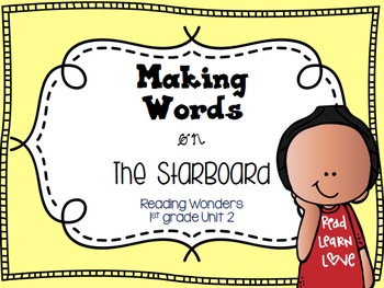 Making Words on the StarBoard 1st grade {Unit 2}