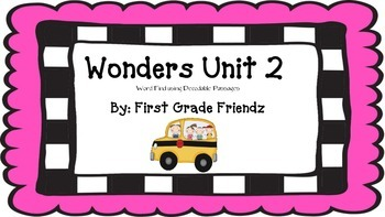 Wonders Unit 2 Word Find Using Decodable Passages