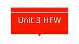 Wonders Unit 3 HFW