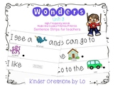 Reading Wonders High-Frequency Word Sentence Strips (Unit 3)
