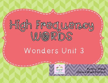 Wonders Unit 3 High Frequency Words (2nd grade)