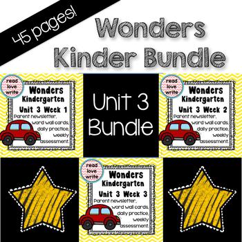 Wonders Unit 3 Bundle, Kinder, Morning Work, Tests, Common Core