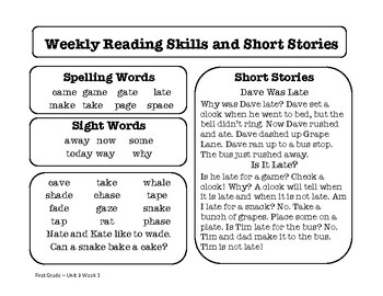 Wonders Unit 3 Reading Homework