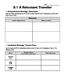 Wonders Grade 5 Unit 3- Reading/Writing Workshop Worksheets
