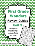 Reading Wonders Unit 3 Weekly Review / Parent Guides