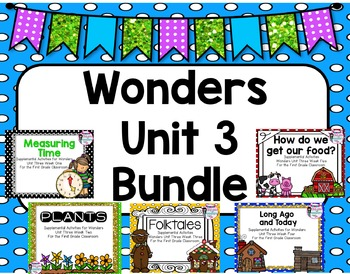 Wonders Unit 3 Supplemental Activities Bundle