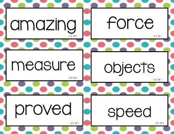 Wonders Unit 3 Vocabulary Word Cards (2nd Grade)