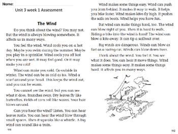 Wonders Unit 3 Week 1 Assessment