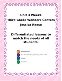 Wonders Unit 3 Week 1 Differentiated Centers