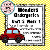 Wonders Unit 3 Week 1, Kinder, Morning Work, Tests, Common Core