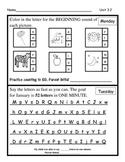 Wonders Unit 3 Week 2 Homework (Clang! Clang! Beep! Beep!